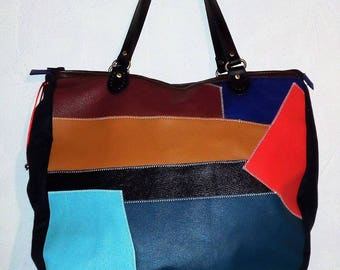 Tote, travel (leather)