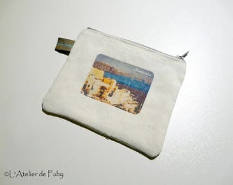 Travel pouch purse theme