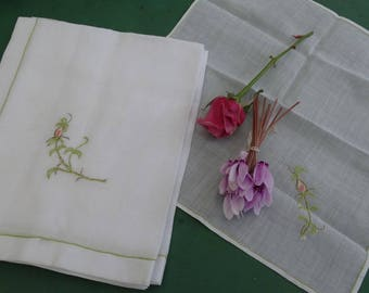 Old linen 3 old towels, very fine French lace doily, doily Baptist embroidery, embroidery and lace, placemat, decoration