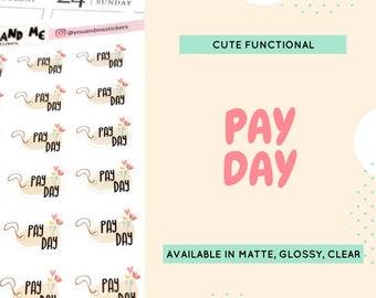 Pay Day | Money Stickers  | Functional Stickers | Planner Stickers | Reminder Stickers | Cute Stickers | Erin Condren | Happy Planner | CS14