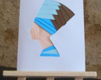 Nefertiti iris folding card
