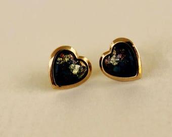 Simple Vintage Heart Earrings