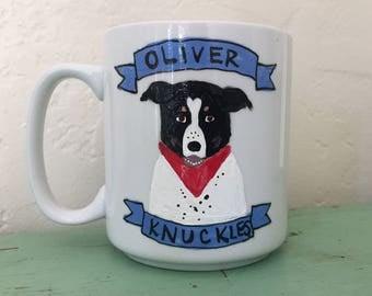 Large Custom Dog Mug with Banner