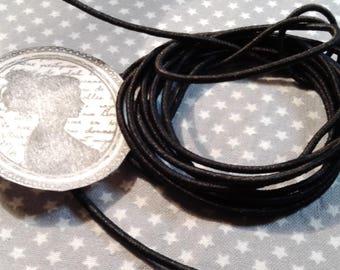 2 m cord elastic, black, 2 mm