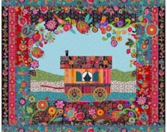 """Kit panel quilting """"the camper"""" Odile Bailloeul"""