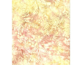 Yellow 2502floral batik patchwork fabric