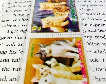 Kittens Postage Stamp Bookmark