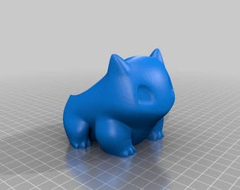 3D Printer Created Extra Large Geometric Pokemon Bulbasaur Planter, Pokemon Bulbasaur planter planter
