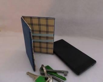 Magic wallet thin denim inside check