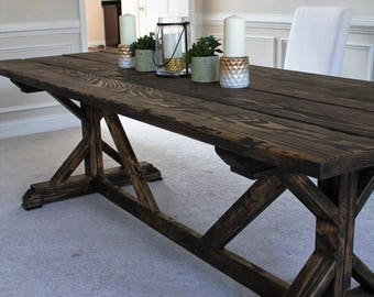 Farmhouse X Style Table....why pay more.
