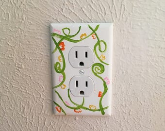 Flower vine Switch Plate