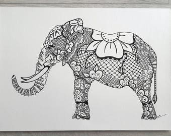 Eastern elephant Rotring (Indian ink pencil)