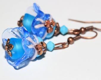 beautiful designer glass bead earrings