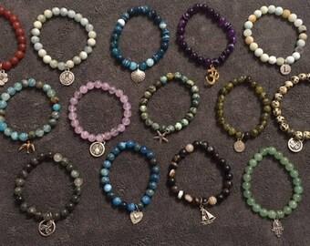Semiprecious gemstone bracelets