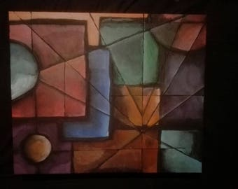 Geometric abstract, original