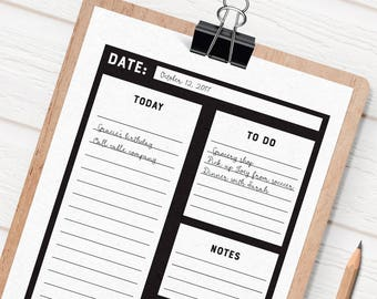 Daily to do list, printable to-do list, to do letter size, minimal planner, daily planner, to do printable, daily organizer, to-do list