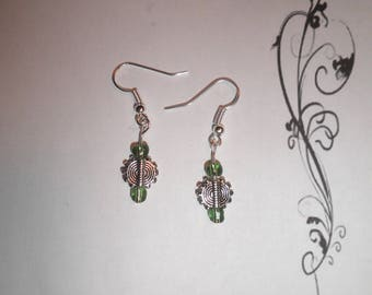 00535 - Spiral earrings Green