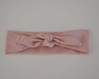 Light pink diaper baby headband