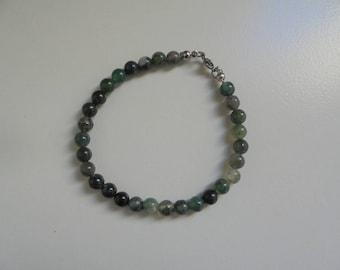 Natural stone Moss Agate bracelet