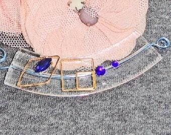 glass, swarovski crystal rhinestone connector