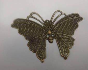 7 color Bronze Butterfly pendants