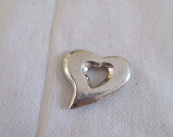 steel metal heart pendant