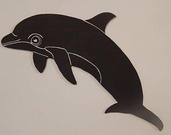 Memo slate wood Dolphin