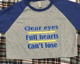 Friday Night Lights Clear Eyes Full Hearts Can't Lose baseball tee