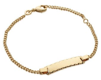 Plated mixed chain bracelet gold 16 cm / 60283516