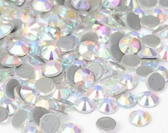 Set of 15 swarovski crystal AB hotfix 4.7 mm (SS 20) great quality rhinestones