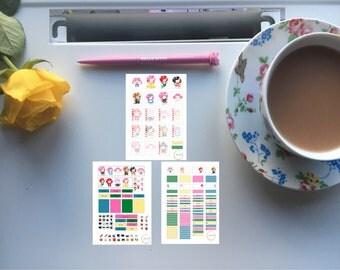 Cosplay unicorn printable planner sticker kit
