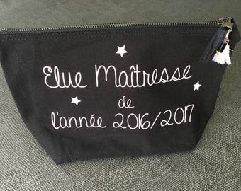 Toiletry bag or makeup customizable teacher school name