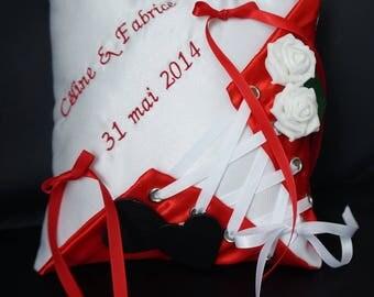 ring bearer shape red corset, bustier