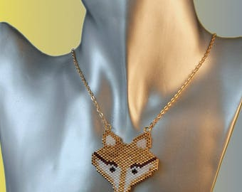 new Foxy Fox new miyuki beadwoven necklace.