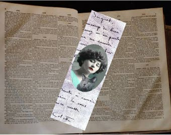 Set of two bookmarks with cat: the writer Colette and the last chatt Saha