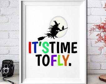Nursery Decor,Nursery Wall Art,Nursery Art,Printable Art, Home Decor Wall Art,8x10,It's time to fly,Wall Art,8x10,Printable Wall Art,Prints