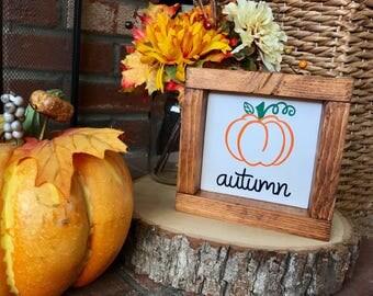 Autumn Mini Wood Sign / Fall Decor / Autumn Decor