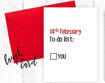 Funny valentine's card, Boyfriend Card, girlfriend card, funny, rude cards, valentines, for him, wife, husband