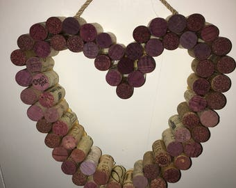Handmade heart shaped cork wreath