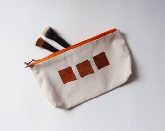 "Makeup ""Geometry"" orange cotton"