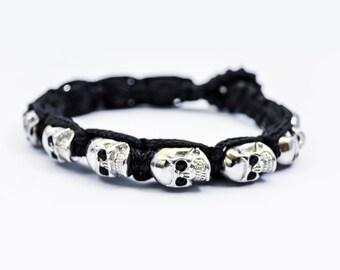 925 Silver Big Skulls Bracelet