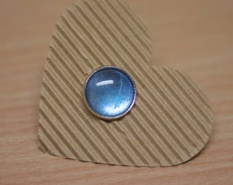 RIng cabochon Silver - Blue 18mm, adjustable