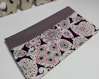 Checkbook holder in linen and liberty