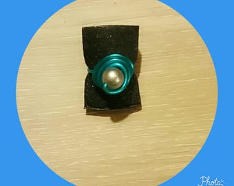 Blue and gray Pearl Adjustable ring
