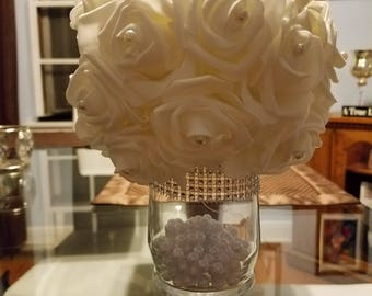 Flowerball with vase