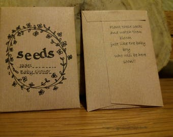 Seed packet favour