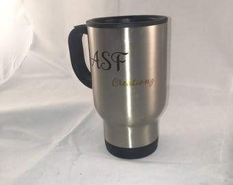 Personalised Stainless Steel Travel Mug