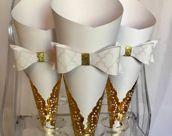 10 Paper Cones favors candy bar snacks wedding birthday baby shower