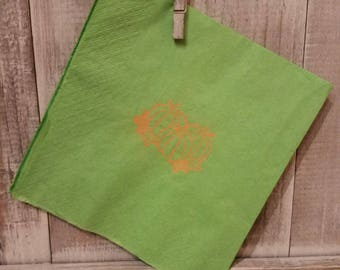 Embossed napkins, pumpkins design