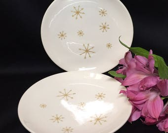 Dessert/Bread Plates - Starglow by Royal Sebring China - set of 4